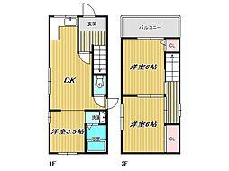 [一戸建] 兵庫県神戸市垂水区馬場通 の賃貸【/】の間取り