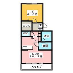 リストーロ[3階]の間取り