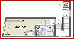 ココフラット田端I 3階ワンルームの間取り
