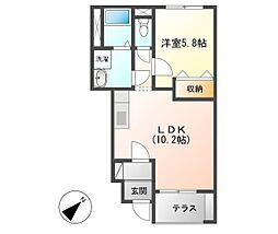 横浜市営地下鉄ブルーライン 立場駅 徒歩14分の賃貸アパート 1階1LDKの間取り