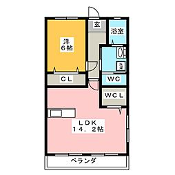 マロンハイツ[1階]の間取り