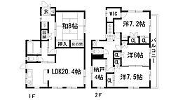 [一戸建] 兵庫県西宮市松籟荘 の賃貸【/】の間取り