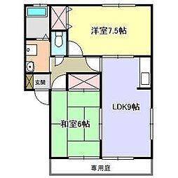 サンシャイン川田B棟[1階]の間取り