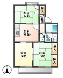神楽橋ライブタウンB[2階]の間取り