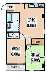 パークサイド福岡[4階]の間取り