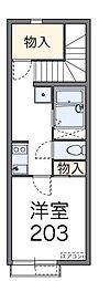 東京都足立区東和2丁目の賃貸アパートの間取り