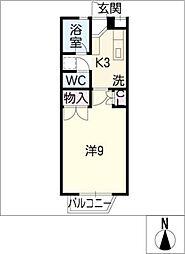 テラスグリーン[1階]の間取り