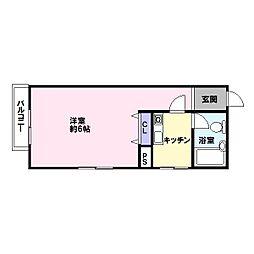 インペリアル[7階]の間取り