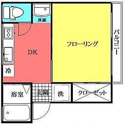 東京都荒川区西尾久5丁目の賃貸マンションの間取り