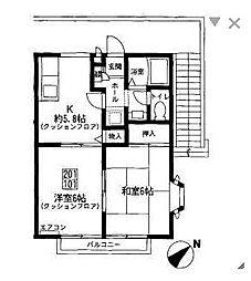 シャルマン鵠沼[1階]の間取り