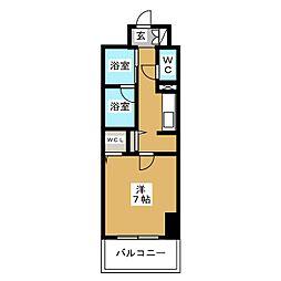 プレミアムコート新栄[6階]の間取り