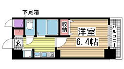 プレサンス神戸三宮[2階]の間取り