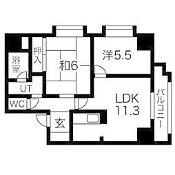 ドミ曙第1[5階]の間取り