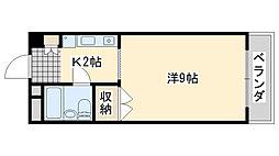 アビヨンKAB1[403号室]の間取り