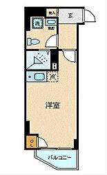 JR京浜東北・根岸線 横浜駅 徒歩5分の賃貸マンション 7階ワンルームの間取り