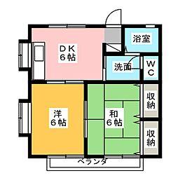 コーポステラ[2階]の間取り