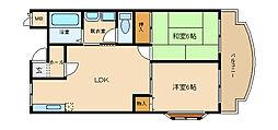 オースクレイン2[2階]の間取り