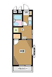 東京都新宿区西新宿5丁目の賃貸アパートの間取り