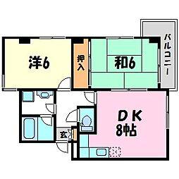 グラナイト甲子園II[3階]の間取り