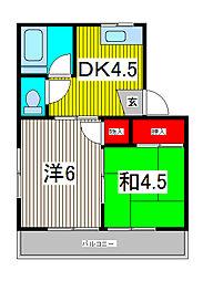 第ニ光荘[1階]の間取り