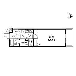 プレール・ドゥーク馬込[3階]の間取り