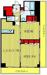 JR埼京線 板橋駅 徒歩9分の賃貸マンション 5階2LDKの間取り