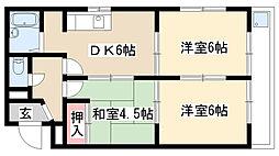 愛知県名古屋市天白区横町の賃貸マンションの間取り