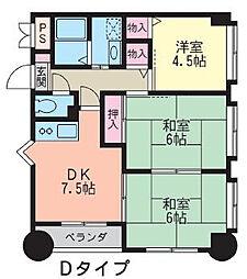 サニーコートI[5階]の間取り