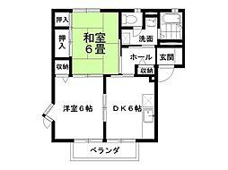 小松パレスA棟[201号室]の間取り