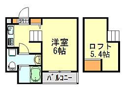 コンフォール千葉[1階]の間取り