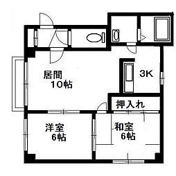北海道札幌市清田区平岡一条1丁目の賃貸マンションの間取り
