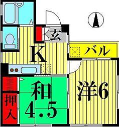 グリーンヒル竹の塚[2階]の間取り