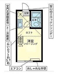 神奈川県横浜市金沢区六浦南5丁目の賃貸アパートの間取り