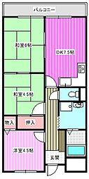 レジデンスモア[3階]の間取り