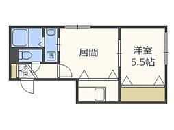 [テラスハウス] 北海道札幌市西区二十四軒三条6丁目 の賃貸【北海道 / 札幌市西区】の間取り