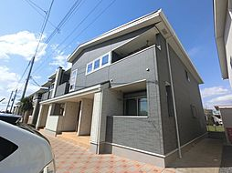 千葉県富里市御料の賃貸アパートの外観