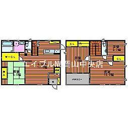 [一戸建] 岡山県岡山市中区四御神丁目なし の賃貸【/】の間取り
