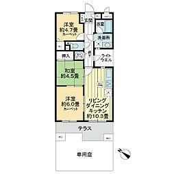 ライオンズマンション東川口[1階]の間取り