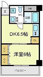 天王寺MIYO[4階]の間取り