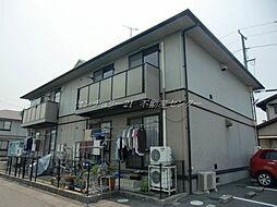 岡山県倉敷市中島の賃貸アパートの外観
