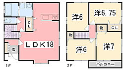 [一戸建] 兵庫県姫路市御立東2丁目 の賃貸【/】の間取り