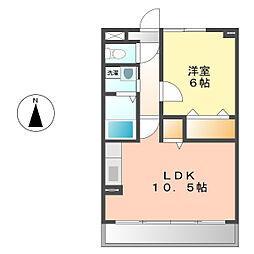 愛知県名古屋市西区比良3丁目の賃貸マンションの間取り