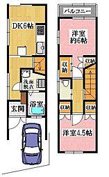 阪急京都本線 淡路駅 徒歩15分 2DKの間取り