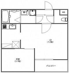 FUJISTA所沢VII[2階]の間取り