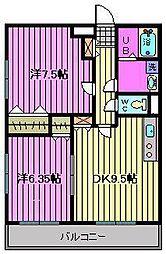 アドバンスM-15[305号室]の間取り