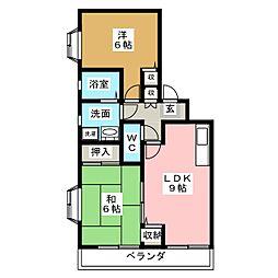 カニエビル2[4階]の間取り