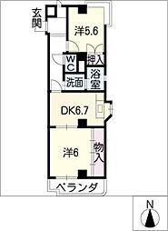 メゾン・アマービレ[3階]の間取り