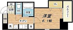 大阪府大阪市中央区大手通3丁目の賃貸マンションの間取り