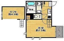 福岡県福岡市南区清水1丁目の賃貸マンションの間取り
