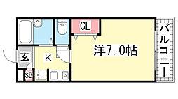 レディースマンションスズラン[2階]の間取り